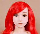 WM Dolls 100cm Perruque Rouge